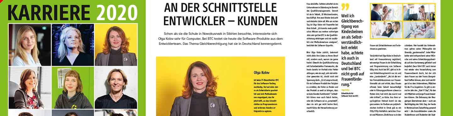 BTC AG News: Frauenpower in der Computerwoche